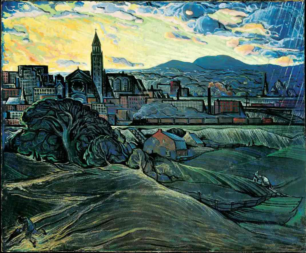 Marc-Aurèle Fortin, Storm Brewing over Hochelaga